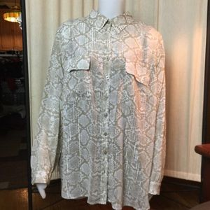 Dana Bachman blouse with attached shell 2X